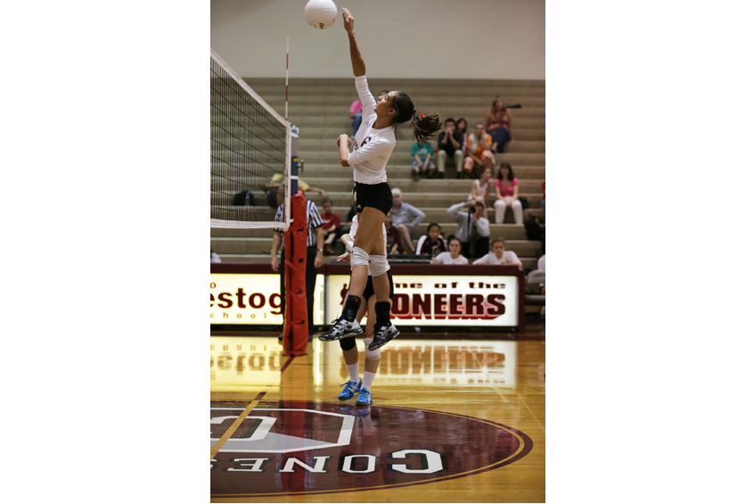 CHS Girls' Volleyball game 2015 what incredible jump reach!